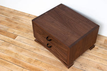 Load image into Gallery viewer, Handmade Solid Wood Silverware Chest, Classic Dinnerware Storage, Tabletop Flatware Box, Traditional Kitchen or Dining Room Furniture with Lined Drawers. Available in Cherry, Walnut or Antique/Reclaimed Chestnut with Custom Engraving Option.