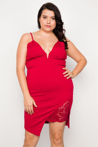 Plus Size Bodycon Cami Mini Dress