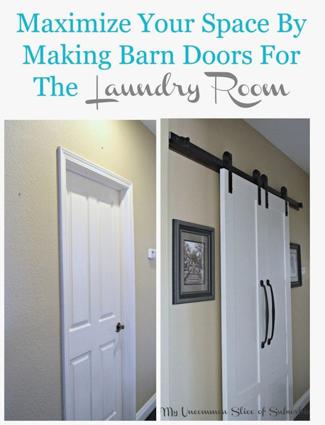 On A Budget Laundry Room Barn Door