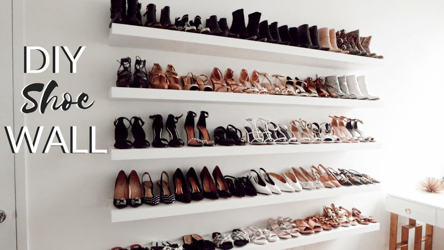 MY NEW DIY SHOE STORAGE (WALL) | IKEA Hack I FINALLY have my new shoe wall finished