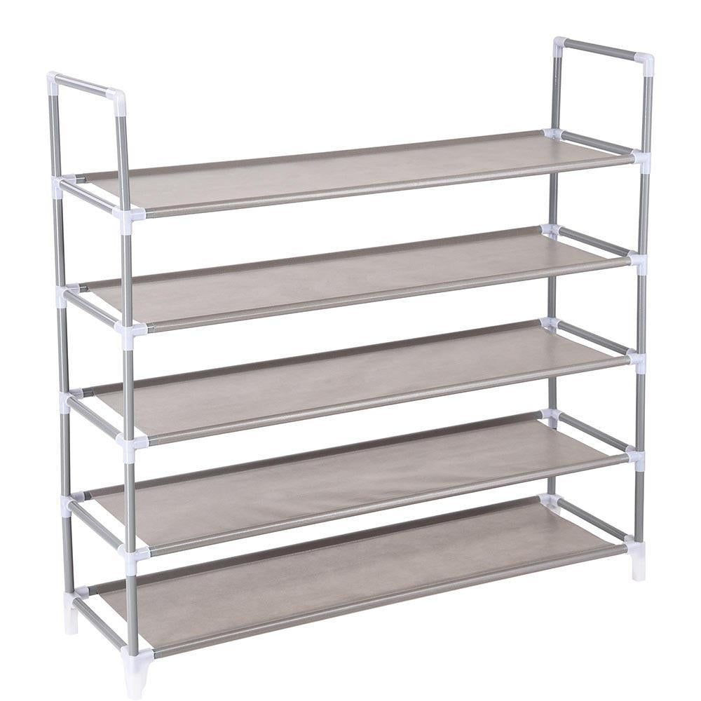 5 Tier Metal Shoe Rack 25 Pair Storage 39 3/8