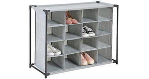16-Compartment Heavy Duty Fabric Shoe Cubby