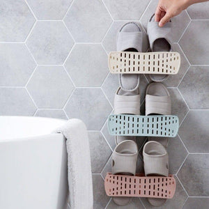Creative Collapsible Wall-Mounted Simple Paste Shoe Storage