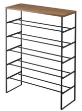 Load image into Gallery viewer, TOWER 6 Tier Wood Top Shoe Rack