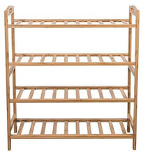 Load image into Gallery viewer, Budget friendly sorbus bamboo shoe rack 4 tier shoes rack organizer perfect bench for hallway entryway mudroom closet bedroom etc