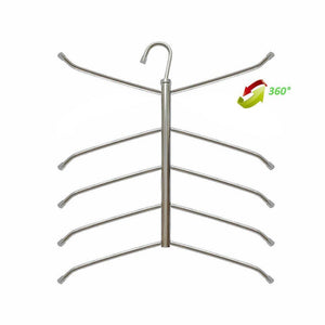 Buy suzeda 5 tier stainless steel blouse tree hanger closet organizer 6 pack