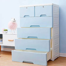 Load image into Gallery viewer, Discover the nafenai 5 drawer kids storage cabinet home storage drawers with lock wheel plastic bedroom storage bin closet kids toy box clothes storage cabinet