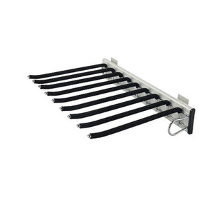 Save sliding stainless steel trousers rack 9 arms closet pants hanger bar for clothes towel scarf trousers tie organizers for space saving and storage 18 x 12 1 2