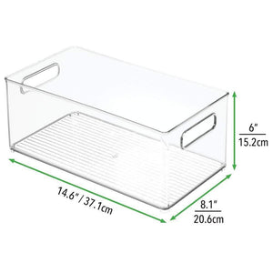 Top rated mdesign largeplastic storage organizer bin holds crafting sewing art supplies for home classroom studio cabinet or closet great for kids craft rooms 14 5 long 4 pack clear