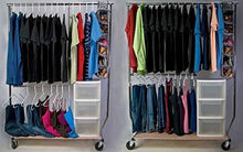 Load image into Gallery viewer, Online shopping higher hangers space saving clothes hangers heavy duty closet organizers helps reduce wrinkles and clutter great for dorms and increasing closet space 40 pack white plastic