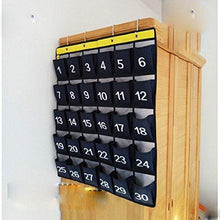 Load image into Gallery viewer, Results lecent numberes classroom pocket chart for cell phones business cards 30 pockets wall door closet mobile hanging storage bag organizer with hooks