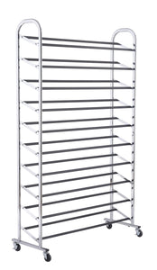 10 Tier Shoe Rack Chrome