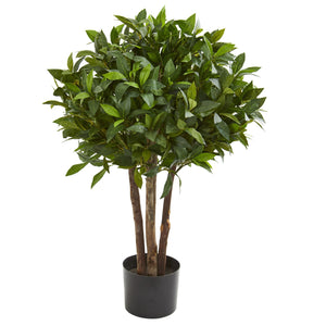"37"" Bay Leaf Topiary Artificial Tree"