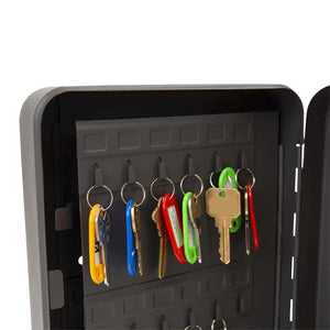 Results houseables key lock box lockbox cabinet wall mount safe 7 9 w x 9 9 l 48 tags black metal combination code locker storage organizer outdoor keybox closet for realtor real estate office