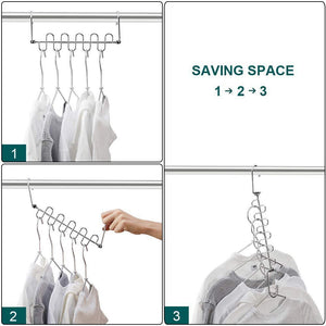 Shop here meetu magic cloth hanger wonder space saving hangers metal closet organizer for closet wardrobe closet organization closet system pack of 4