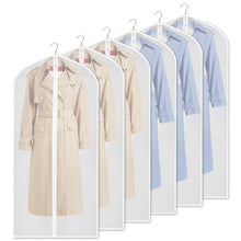 Load image into Gallery viewer, Discover the zilink clear garment bag dress bags for storage 54 inch dust free coat bags with full length zipper for clothes closet storage set of 6