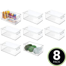 Load image into Gallery viewer, Purchase mdesign large plastic storage organizer bin holds crafting sewing art supplies for home classroom studio cabinet or closet great for kids craft rooms 14 5 long 8 pack clear