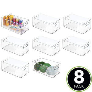 Purchase mdesign large plastic storage organizer bin holds crafting sewing art supplies for home classroom studio cabinet or closet great for kids craft rooms 14 5 long 8 pack clear