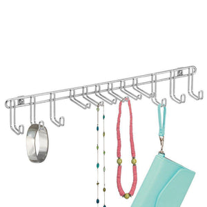 Best interdesign classico wall mount closet organizer rack for ties belts chrome