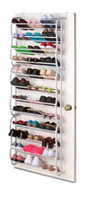 Load image into Gallery viewer, Sunbeam 36 Pair Easy Assemble Over the Door Shoe Rack in Black or White