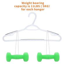 Load image into Gallery viewer, Top rated timmy plastic hangers 40 pack heavy duty clothes hangers with built in grip non slip pads space saving super lightweight organizer for closet wardrobe perfect for blouses shirts and morewhite grey