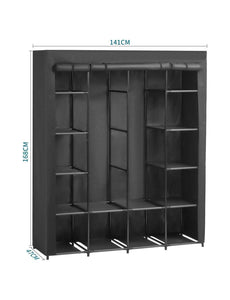 Explore aoou closet organizer wardrobe closet portable closet closet organizers and storage with non woven fabric easy to assemble 56 x 18 5 x 66 inches black