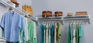 The best ez shelf diy expandable closet kit 2 closet shelf rods units and 2 end brackets each unit 40 in to 74 in white
