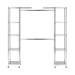 Get seville classics double rod expandable clothes rack closet organizer system 58 to 83 w x 14 d x 72 ultrazinc