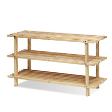 Load image into Gallery viewer, Furinno Pine Solid Wood 3-Tier Shoe Rack FNCJ-33003