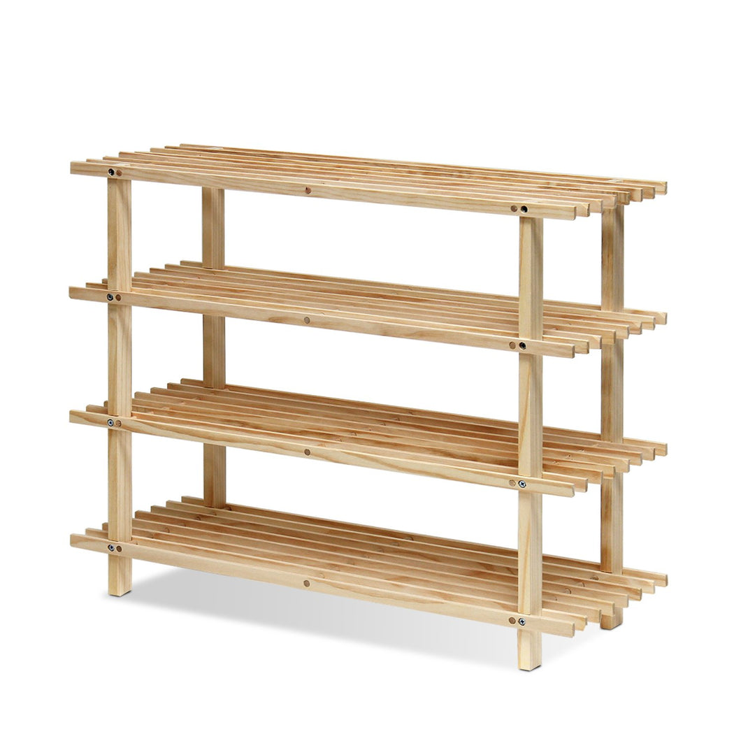 Furinno Pine Solid Wood 4-Tier Shoe Rack FNCJ-33005