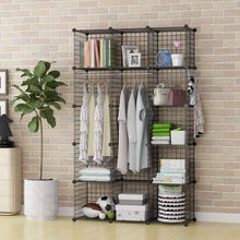 Load image into Gallery viewer, Latest george danis wire storage cubes metal shelving unit portable closet wardrobe organizer multi use rack modular cubbies black 14 inches depth 3x5 tiers