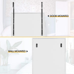 Great cloud mountain jewelry cabinet 6 leds jewelry armoire lockable wall door mounted jewelry cabinet organizer with mirror 2 drawers bedroom living room cloakroom closet white
