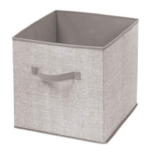 Load image into Gallery viewer, Online shopping mdesign large soft fabric closet home storage organizer cube bin box front handle storage for closet bedroom furniture shelving units textured print 12 75 high 2 pack linen tan