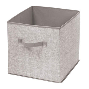 Online shopping mdesign large soft fabric closet home storage organizer cube bin box front handle storage for closet bedroom furniture shelving units textured print 12 75 high 2 pack linen tan