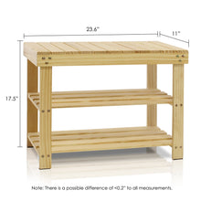 Load image into Gallery viewer, FURINNO FNCJ-33019 Pine Solid Wood Shoe Rack, Natural