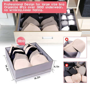 Shop for drawer organizer dresser drawer organizer divider washable large bra sock underwear tie cloth organizer foldable closet storage box drawer polyester fabric for baby cloth panties belts set of 4 gray
