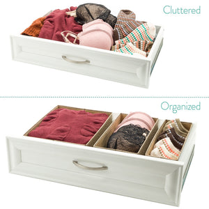 Shop for drawer storage bins set of 3 decorative closet organizer bins fabric drawer dividers easy to open and folds flat for storage great drawer organizer for storing underwear socksbeige