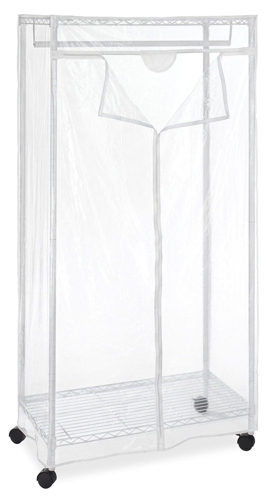Storage organizer whitmor supreme clothes closet clear