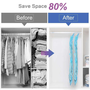 Selection taili hanging vacuum storage bags for clothes set of 4 long 53x27 6 inches space saver bags for suits dress coats or jackets vacuum sealed clothing bags for closet organizer and storage