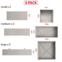 Load image into Gallery viewer, Purchase diommell foldable cloth storage box closet dresser drawer organizer fabric baskets bins containers divider with drawers for clothes underwear bras socks lingerie clothing set of 6