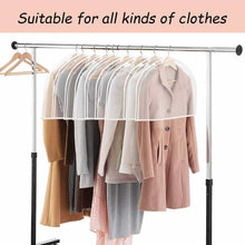 Load image into Gallery viewer, Order now keegh garment shoulder covers bagset of 12 breathable closet suit organizer prevent clothes shoulder from dust 2 gusset hold more coats jackets dress