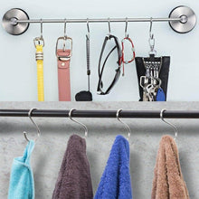 Load image into Gallery viewer, Shop for kitovet medium s hooks heavy duty stainless steel s shaped hanging hooks for hanging metal kitchen pot pan hanger storage rack closet s type hooks multiple uses