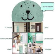 Load image into Gallery viewer, Select nice aitsite 2 pcs wall hanging storage bag cartoon over the door closet organizer linen fabric organizer with 3 semicircular pockets for bedroom bathroom kitchen cyan grey
