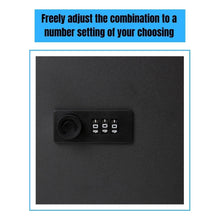 Load image into Gallery viewer, Save on houseables key lock box lockbox cabinet wall mount safe 7 9 w x 9 9 l 48 tags black metal combination code locker storage organizer outdoor keybox closet for realtor real estate office
