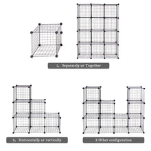 Load image into Gallery viewer, Try tangkula wire storage cubes metal wire free standing modular shelving grids diy bookcase closet wardrobe organization storage cubes 12 cubes