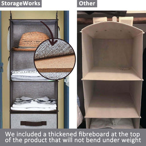 Kitchen storageworks hanging closet organizer 6 shelf closet organizer 2 ways dorm closet organizers and storage sweater organizer for closet gray 12x12x42 inches