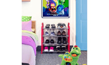 Load image into Gallery viewer, Kids Shoe Rack Junior Organizer Storage 4 Levels Tier