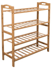 Load image into Gallery viewer, Buy sorbus bamboo shoe rack 4 tier shoes rack organizer perfect bench for hallway entryway mudroom closet bedroom etc