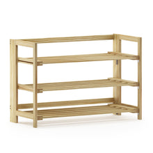 Load image into Gallery viewer, Furinno Pine Solid Wood 2-Tier Shoe Rack FNCJ-33044N
