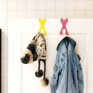 Discover the best harpel my doorman over door hook towel hanger door coat rack helps organize clothes closets bathroom more 4 men 8 hooks